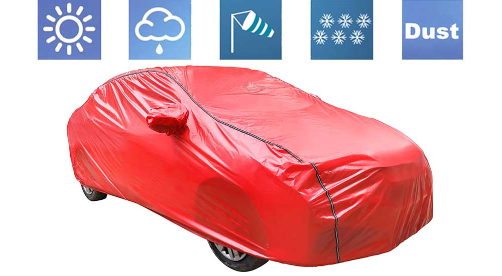Acho Red Car Body Cover
