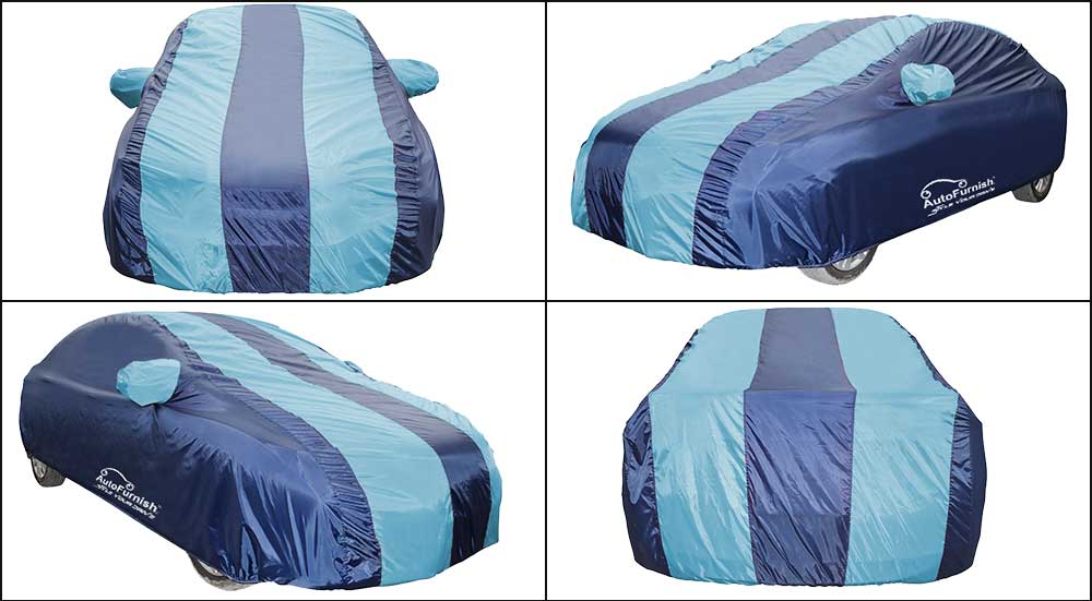 Aqua Stripe Car Body Cover