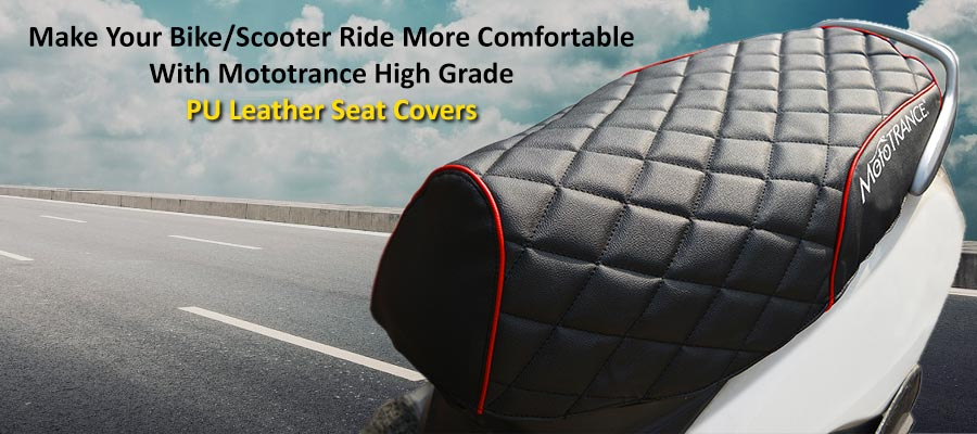 Make Your Bike/Scooter Ride More Comfortable With Mototrance High Grade PU Leather Seat Covers