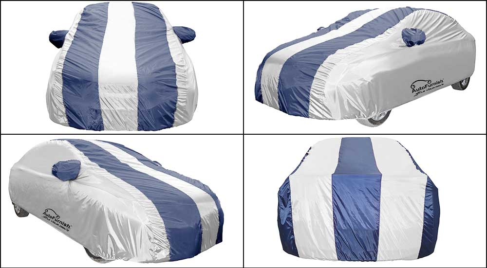 Blue Stripe Car Body Cover