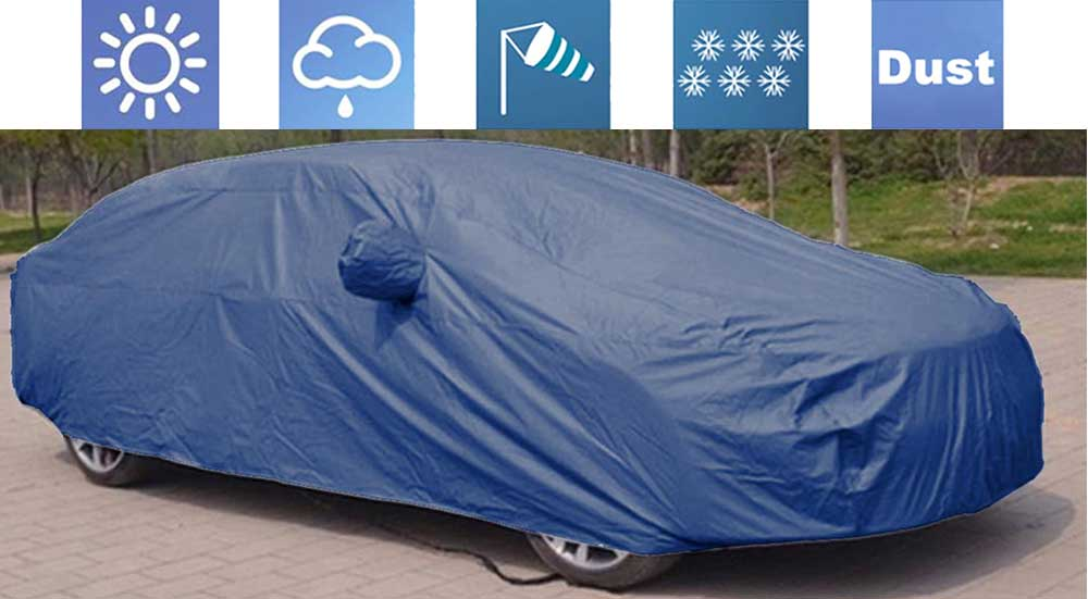 Parker Blue Car Body Cover