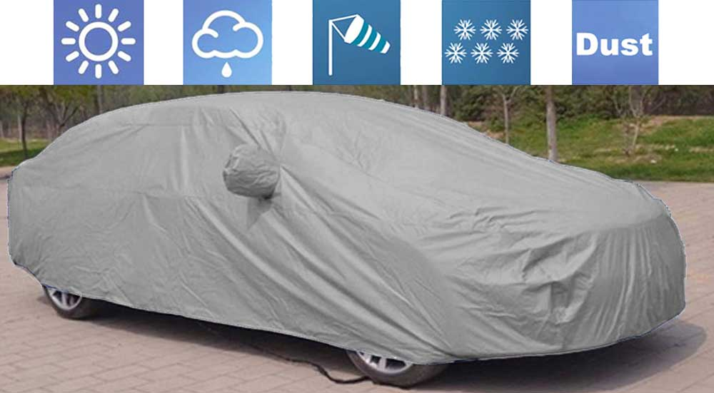 Premium Grey Car Body Cover