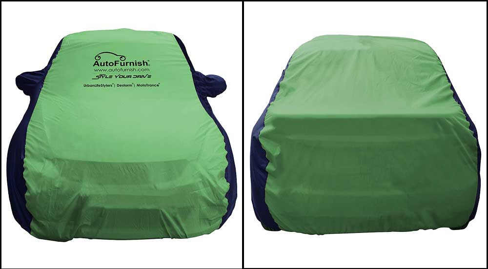 Sporty Green Blue Car Body Cover