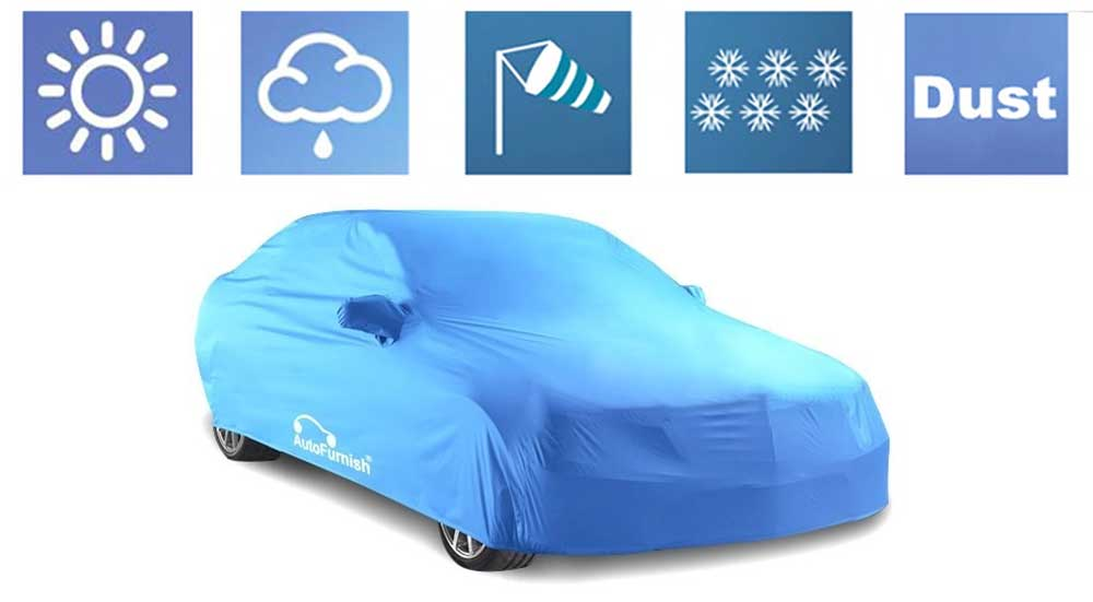 Stylish Parker Aqua Car Body Cover