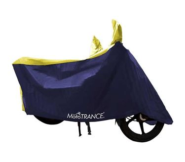 Picture of Sporty Yellow Blue Two Wheeler Body Cover For Universal