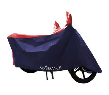 Picture of Sporty Red Blue Two Wheeler Body Cover For Universal