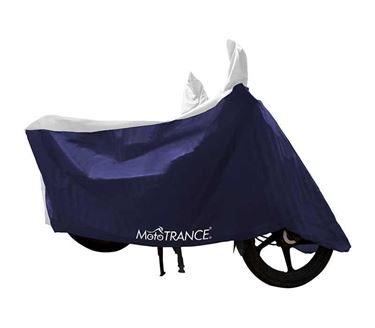 Picture of Sporty White Blue Two Wheeler Body Cover For Universal