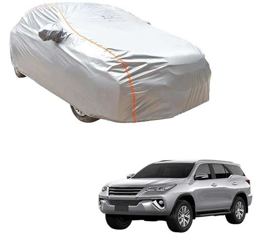 Picture of Acho Premium 100% Waterproof Car Body Cover For Toyota Fortuner - Acho Silver