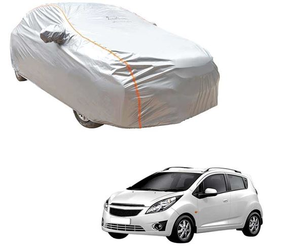 Picture of Acho Premium 100% Waterproof Car Body Cover For Chevrolet Beat - Acho Silver