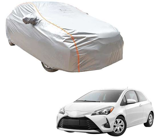 Picture of Acho Premium 100% Waterproof Car Body Cover For Toyota Yaris - Acho Silver