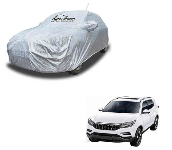 Picture of Aero Waterproof Heat Resistant Mirror and Antenna Pocket Car Body Cover Compatible With Mahindra Alturas G4 2019 - Aero SIlver