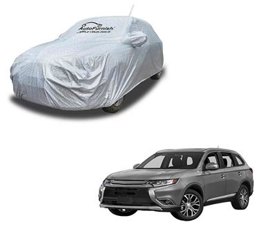 Picture of Aero Waterproof Heat Resistant Mirror and Antenna Pocket Car Body Cover Compatible With Mitsubishi Outlander - Aero SIlver