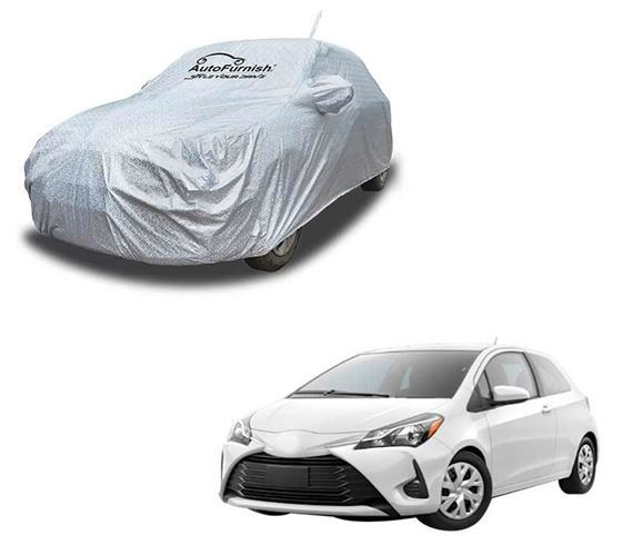 Picture of Aero Waterproof Heat Resistant Mirror and Antenna Pocket Car Body Cover Compatible With Toyota Yaris - Aero SIlver
