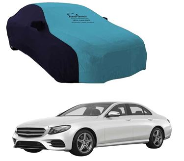 Picture of Dual Tone Aqua Blue Car Body Cover Compatible With Mercedes Benz E220 2017 - Sporty Blue