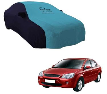 Picture of Dual Tone Aqua Blue Car Body Cover For Ford Ikon - Sporty Blue