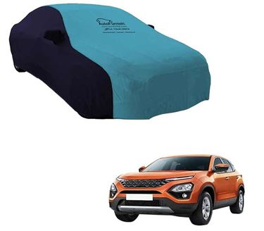 Picture of Dual Tone Aqua Blue Car Body Cover For Tata Harrier 2019 - Sporty Blue