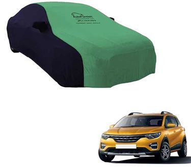 Picture of Dual Tone Green Blue Car Body Cover Compatible With Renault Triber 2019 - Sporty Blue