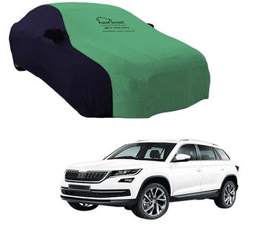 Picture of Dual Tone Green Blue Car Body Cover Compatible With Skoda Kodiaq - Sporty Blue