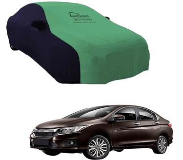 Picture of Dual Tone Green Blue Car Body Cover For Honda City ZX - Sporty Blue