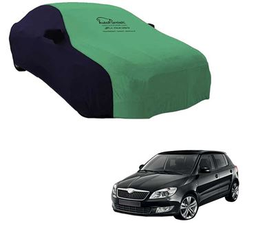 Picture of Dual Tone Green Blue Car Body Cover For Skoda Fabia - Sporty Blue