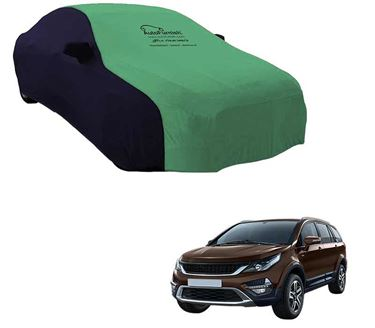 Picture of Dual Tone Green Blue Car Body Cover For Tata Hexa - Sporty Blue