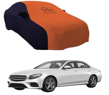Picture of Dual Tone Orange Blue Car Body Cover Compatible With Mercedes Benz E220 2017 - Sporty Blue