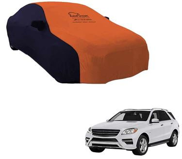 Picture of Dual Tone Orange Blue Car Body Cover For Mercedes Benz ML350 - Sporty Blue