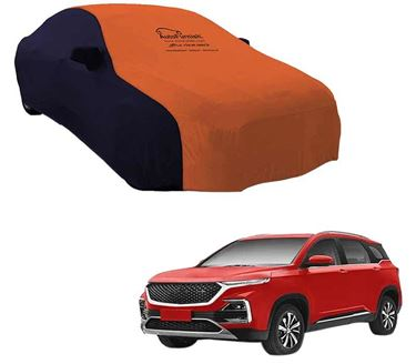 Picture of Dual Tone Orange Blue Car Body Cover For MG Hector 2019 - Sporty Blue