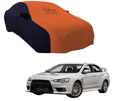 Picture of Dual Tone Orange Blue Car Body Cover For Mitsubishi Lancer Evolution - Sporty Blue