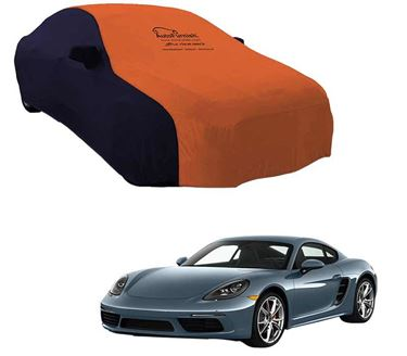 Picture of Dual Tone Orange Blue Car Body Cover For Porsche Cayman - Sporty Blue