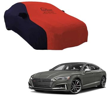 Picture of Dual Tone Red Blue Car Body Cover Compatible With Audi S5 2019 - Sporty Blue