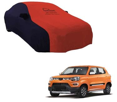 Picture of Dual Tone Red Blue Car Body Cover Compatible With Maruti S-Presso - Sporty Blue