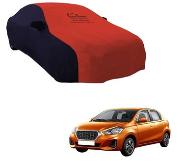 Picture of Dual Tone Red Blue Car Body Cover For Datsun Redi Go - Sporty Blue