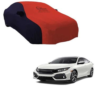 Picture of Dual Tone Red Blue Car Body Cover For Honda Civic 2019 - Sporty Blue