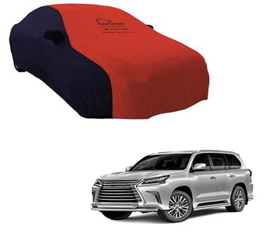 Picture of Dual Tone Red Blue Car Body Cover For Lexus LX 450d 2016 - Sporty Blue