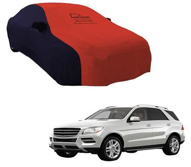 Picture of Dual Tone Red Blue Car Body Cover For Mercedes Benz ML250 - Sporty Blue