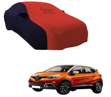 Picture of Dual Tone Red Blue Car Body Cover For Renault Captur 2019 - Sporty Blue