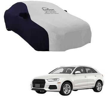 Picture of Dual Tone Silver Blue Car Body Cover For Audi Q3 - Sporty Blue