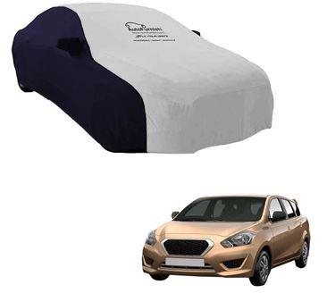 Picture of Dual Tone Silver Blue Car Body Cover For Datsun Go+ - Sporty Blue