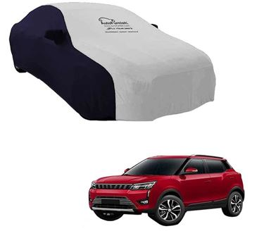 Picture of Dual Tone Silver Blue Car Body Cover For Mahindra XUV300 2019 - Sporty Blue