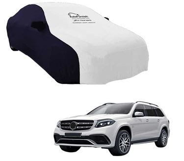Picture of Dual Tone White Blue Car Body Cover Compatible With Mercedes Benz GLS 2017 - Sporty Blue