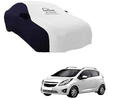 Picture of Dual Tone White Blue Car Body Cover For Chevrolet Beat - Sporty Blue