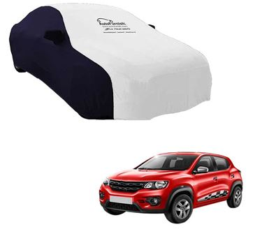 Picture of Dual Tone White Blue Car Body Cover For Renault KWID - Sporty Blue