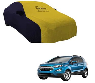 Picture of Dual Tone Yellow Blue Car Body Cover For Ford EcoSport - Sporty Blue