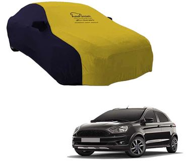 Picture of Dual Tone Yellow Blue Car Body Cover For Ford Freestyle 2018 - Sporty Blue