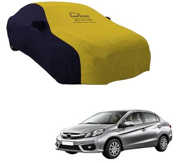 Picture of Dual Tone Yellow Blue Car Body Cover For Honda Amaze - Sporty Blue