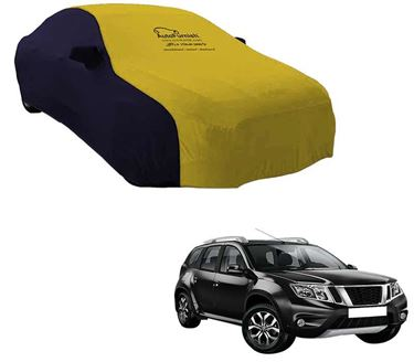 Picture of Dual Tone Yellow Blue Car Body Cover For Nissan Terrano - Sporty Blue