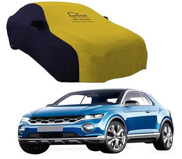 Picture of Dual Tone Yellow Blue Car Body Cover For Volkswagen T-Roc 2020 - Sporty Blue