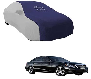 Picture of Dual Tone Blue Silver Car Body Cover for Mercedes Benz E250 - Sporty Silver