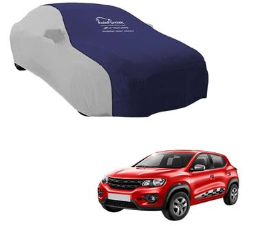 Picture of Dual Tone Blue Silver Car Body Cover for Renault KWID - Sporty Silver